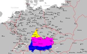 Het Beiers wordt over een groot gebied gesproken en is in drie varianten (noord, midden, zuid) ingedeeld.