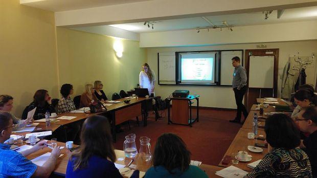 Een workshop over vertaalbureaus.