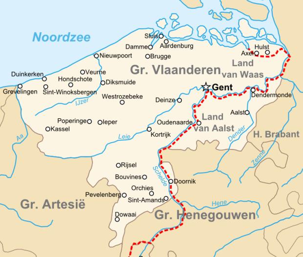 Het oude graafschap Vlaanderen