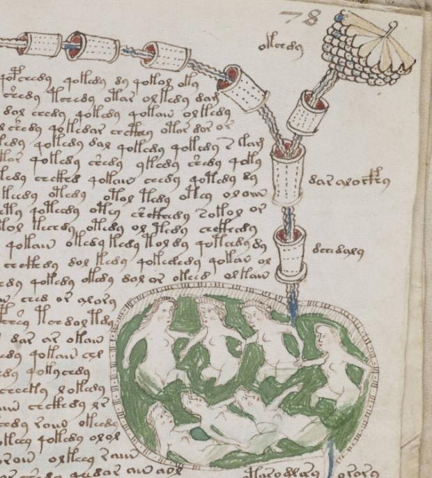 Een onderdeel van het manuscript.